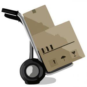Trasporto scatole carrello